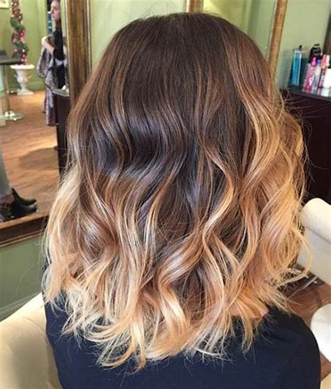 medium length hair with ombre highlights 15 balayage hair color ideas with blonde highlights