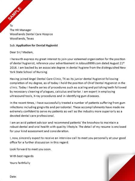cover letter sle dental hygienist cover letter for dental hygiene educator 28 images