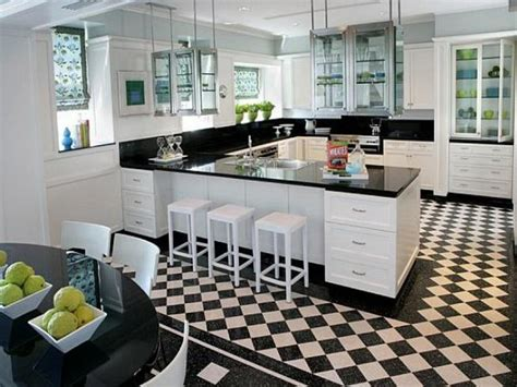 black and white kitchen flooring your home
