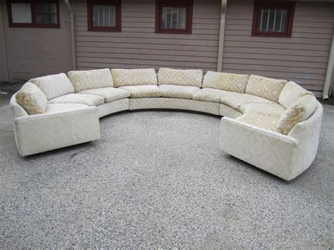 circular sectional couch spectacular three piece milo baughman circular sofa mid
