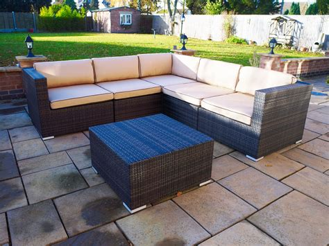 melbourne outdoor rattan garden furniture corner suite ebay