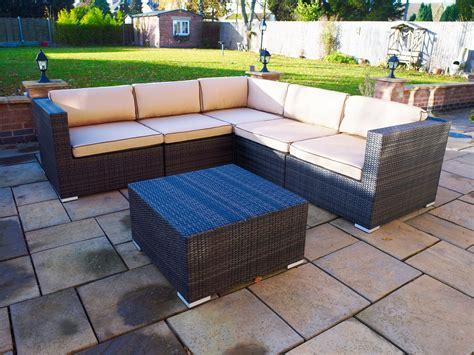 outdoor couches melbourne melbourne outdoor rattan garden furniture corner suite ebay