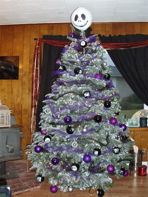 christmas tree made out of ornaments quot nightmare before quot tree made s out of paper mache and printed out pictures