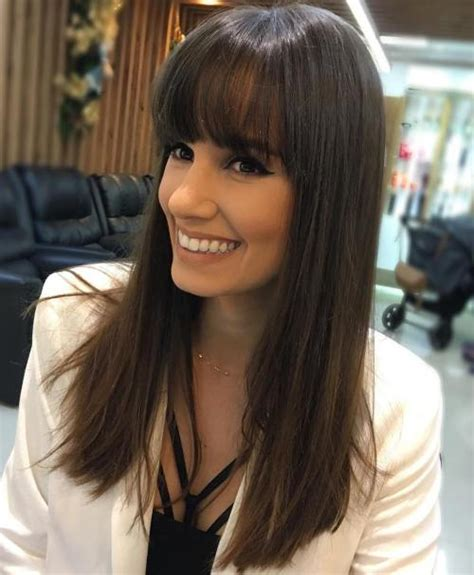haircuts for straight hair and bangs 40 long hairstyles and haircuts for fine hair with an