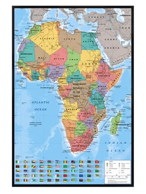 educational map snap africa gloss black framed map of africa educational map poster
