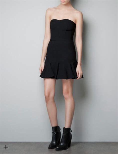 ebay zara zara strapless little black dress ref 1165 246 800 size m