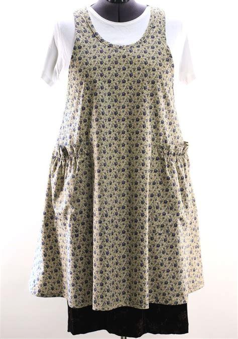 apron pattern plus size plus size vintage blue floral no tie apron the vermont