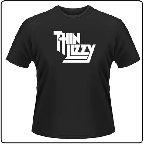 backstreetmerch classic logo thin lizzy t shirt