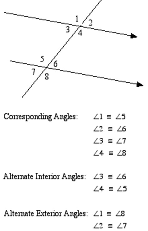 2 6 special angles and parallel lines mr thompson