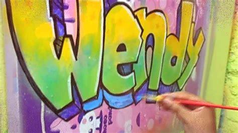 imagenes que digan wendy como hacer tu nombre en graffiti 3 wellintencion youtube