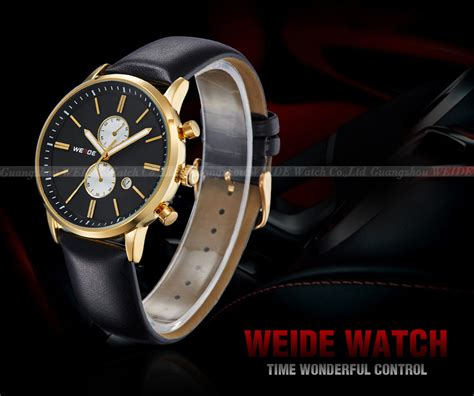 weide japan quartz miyota leather sports 30m water resistance wh3302 black gold