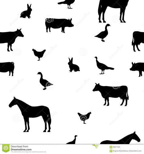 pattern silhouette vector vector illustration seamless pattern pets stock vector