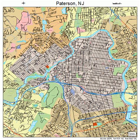 map of paterson new jersey paterson new jersey map 3457000