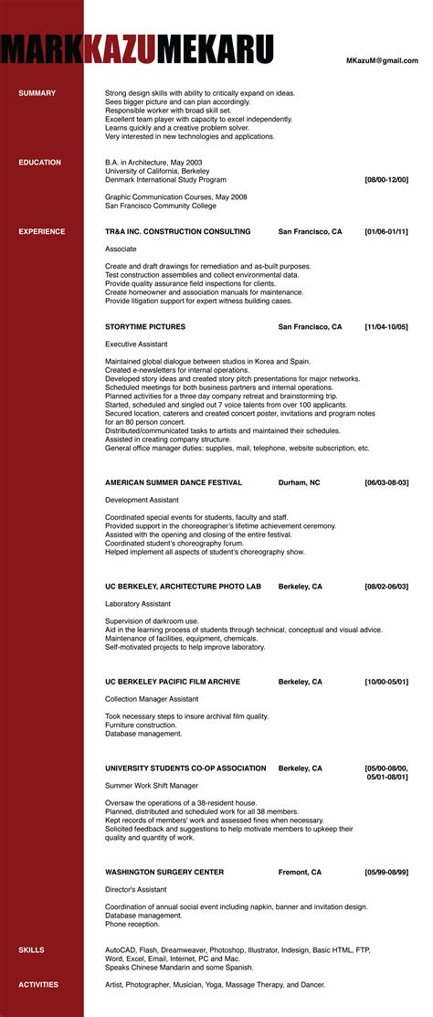 Sample Resume Of An Architect – Architecture Products Image: Architecture Resume Sample