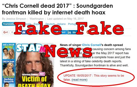 And In Hoax News by News Chris Cornell Actually Dead Hoax