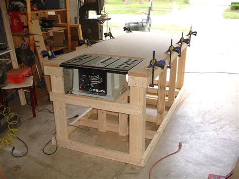 workshop bench ideas backyard workshop ultimate workbench building pinterest workshop router table