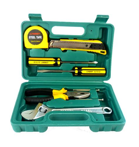 g t 9pc set tool set chest auto home repair kit metric lifetime warranty 011009 r in