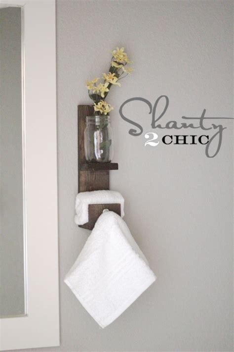 bathroom hand towel hooks my bathroom diy hooks shanty 2 chic
