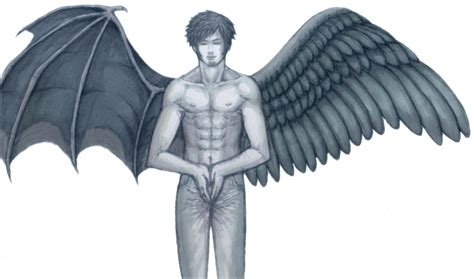 half angel half demon tattoo designs half half design tattooshunt