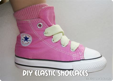 elastic shoe laces sew can do make your own elastic shoelaces