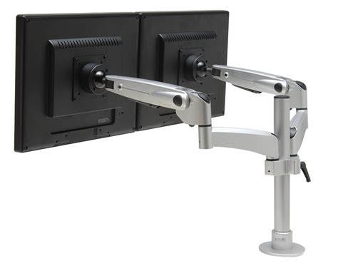 swing arm for monitor workrite swingarm dual monitor display shop dual monitor