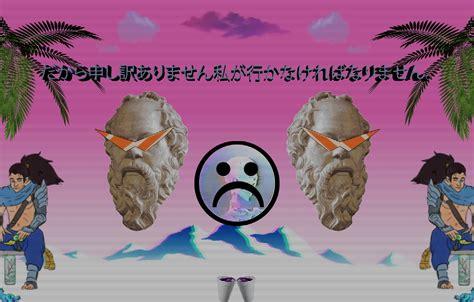 wallpaper anime sad vaporwave glitch images  desktop