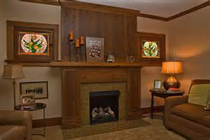 custom oak arts crafts mantel by haas distinctive