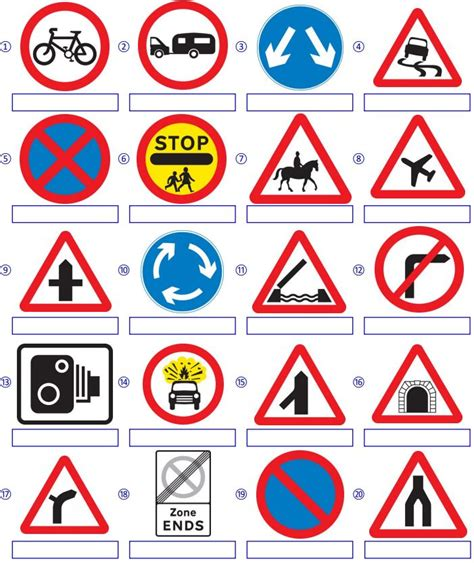 printable road sign quiz quizzes sign in oloom