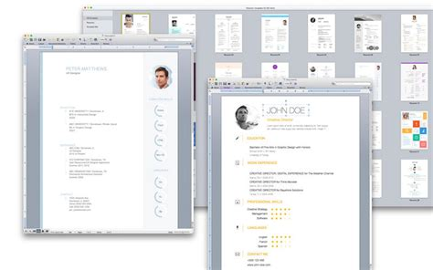 Resume Mac App Store Resume Templates For Ms Word On The Mac App Store