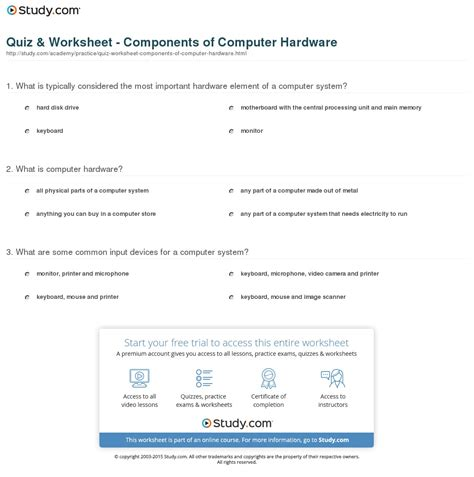 Introduction To Computers Worksheet by Computer Mouse Worksheets For Grade 1 10 Best Images Of