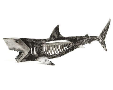 baby shark metal steel bone shark metal garden art uncommongoods