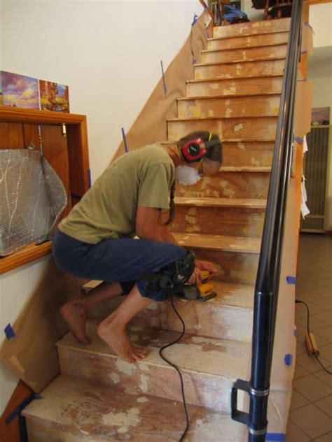 barefoot home improvement episode one stair painting