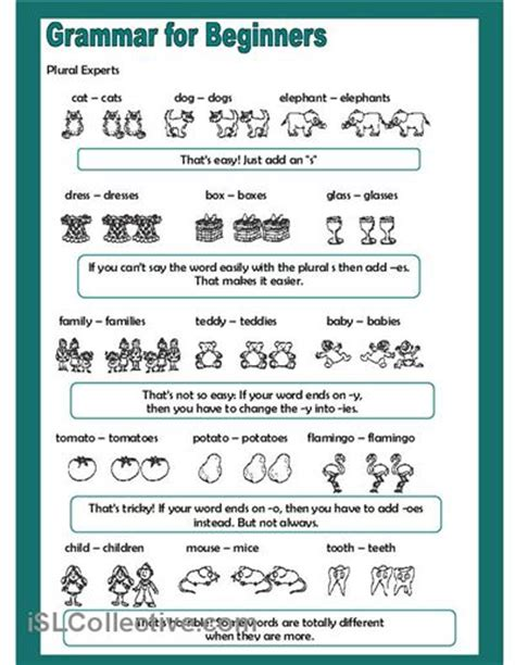 free printable english worksheets beginners grammar for beginners plural experts worksheet free