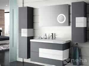 meuble salle de bain gris clair bois chaios