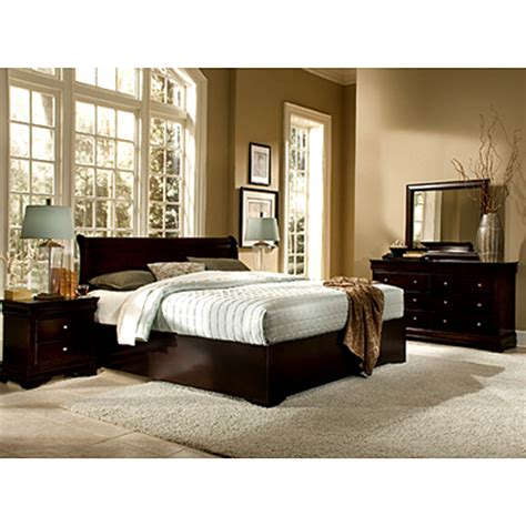 6 Pc King Bedroom Set by Beverly King Size 6 Pc Bedroom Set Cappuccino Bj S