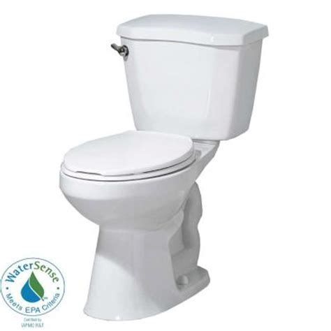 glacier bay 2 high efficiency elongated toilet in