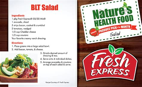 Brookshirebrothers Com Sweepstakes - nature s health food fresh salads brookshire brothers