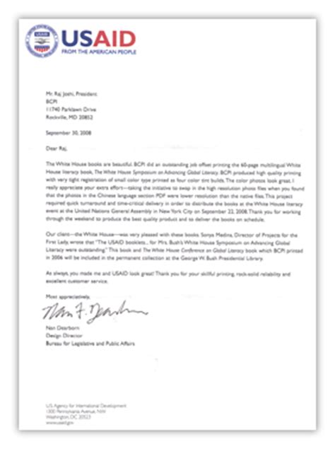 Customer Appreciation Letter Customer Testimonial Bcpi Testimonial Letters