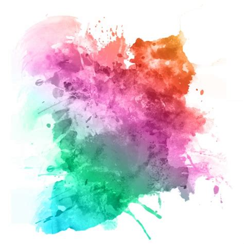 color splatter watercolour splatter in rainbow colours vector free