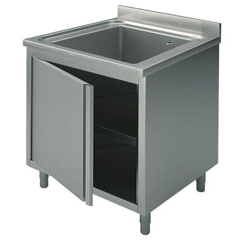 lavello industriale lavello armadiato 1 vasca con porta battente per cucine
