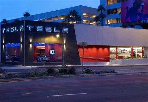 la show room tesla la showroom 171 inhabitat green design innovation architecture green building