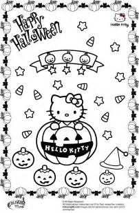 hello kitty halloween coloring pages team colors