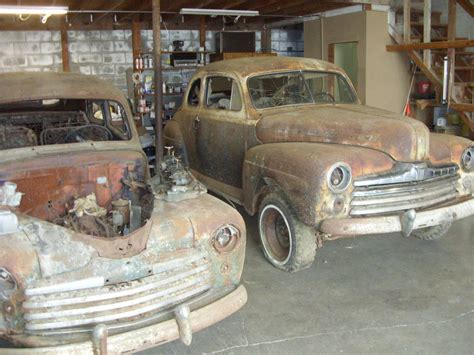 barn find twins    ford club coupes