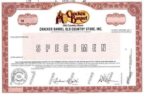 Cracker Barrel Background Check Cracker Barrel Country Store Inc Tennessee 1987