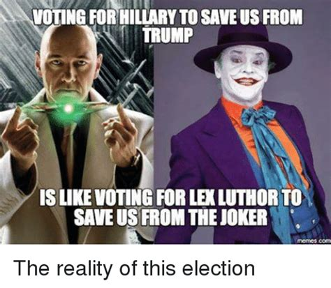 Meme Generator Joker - voting for hillarytosaveus from trump islikevoting forle