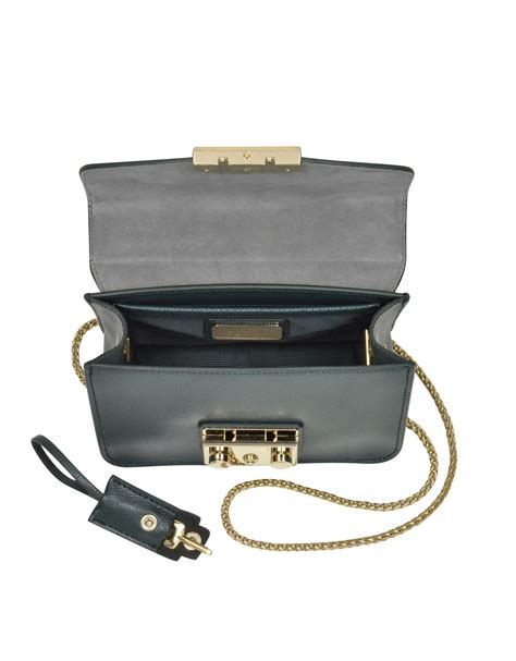 Furla Metropolis Mini Crosbody Include Box lyst furla metropolis malachite leather shoulder bag in
