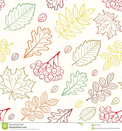 graphic design z pattern autumn leafs seamless pattern stock vector image 60137312