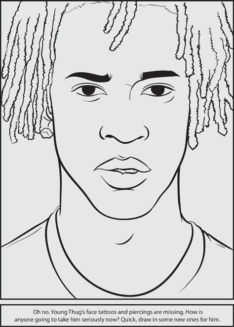coloring book rapper free coloring pages of wiz khalifa with a hat