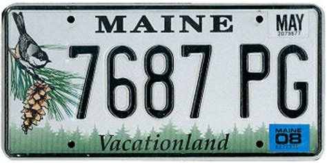 Maine State Vanity Plates by Maine America On The Road