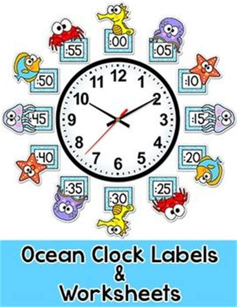 themes o clock ocean theme telling time clock labels under the sea